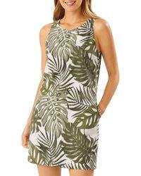 Tommy Bahama Safari Bliss Silk Shift Dress - Green