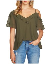 1.STATE - Ruffle Single Cold-shoulder Blouse - Lyst