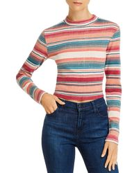 Roxy Smooth Move Striped Cropped Top - Blue