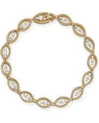 Roberto Coin - 18k White And Yellow Gold New Barocco Diamond Bracelet - Lyst