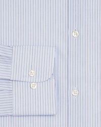 Bloomingdale's The Store At Bloomingdale's Dual Stripe Regular Fit Dress Shirt - Blue