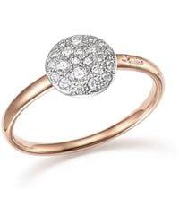 Pomellato - Sabbia Ring With Diamonds In 18k Rose Gold - Lyst