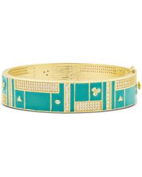 Freida Rothman Harmony Wide Bangle Bracelet In 14k Gold - Plated Sterling Silver - Metallic