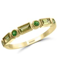 Bloomingdale's Peridot & Tsavorite Band In 14k Yellow Gold - Metallic