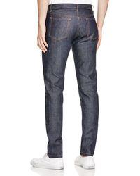 A.P.C. Petit Standard Straight Slim Fit Jeans In Indigo Stretch - Blue