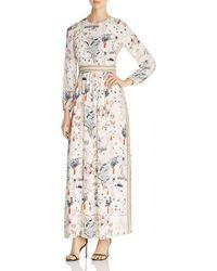 Tory Burch - Printed Silk Maxi Dress - Lyst
