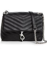 Rebecca Minkoff Edie Quilted Leather Convertible Crossbody - Black