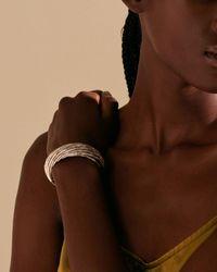 John Hardy Sterling Silver Bamboo Look Twist Cuff Bracelet - Metallic