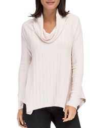 B Collection By Bobeau - Lana Cowl Neck Ribbed Top - Lyst