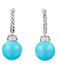 David Yurman - Solari Drop Earrings With Diamonds & Reconstituted Turquoise - Lyst