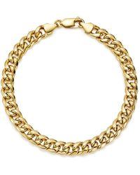 Bloomingdale's Men's Classic Chain Bracelet In 14k Yellow Gold - Metallic