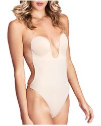 Fashion Forms U Plunge Backless Strapless Bodysuit - Natural
