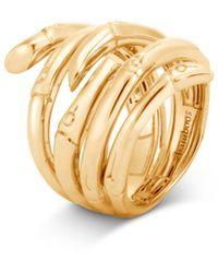 John Hardy 18k Yellow Gold Bamboo Multi - Row Ring - Metallic