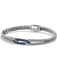 David Yurman - Petite Pavé Labyrinth Mini Loop Bracelet With Blue Sapphires - Lyst