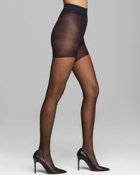 Calvin Klein Sheer Essentials Stretch Control Top Tights - Black