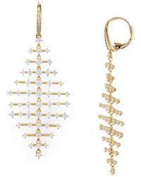 Nadri - Geometric Drop Earrings - Lyst