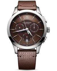 Victorinox Swiss Army Alliance Chronograph Watch - Brown