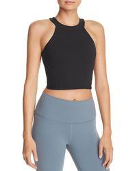 Alo Yoga Unite Rib - Knit Sports Bra - Black