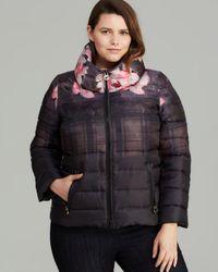 Marina Rinaldi Plus Palco Quilted Jacket - Pink