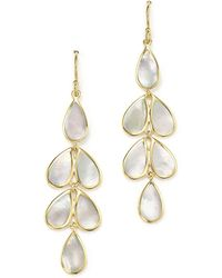Ippolita - 18k Yellow Gold Rock Candy® Cascade Teardrop Earrings With Mother-of-pearl - Lyst