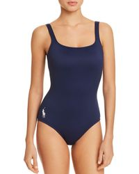 Ralph Lauren - Polo Solid Martinique One Piece Swimsuit - Lyst