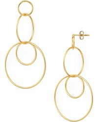 Argento Vivo - Linked Circle Drop Earrings - Lyst