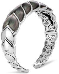 John Hardy Sterling Silver Legends Naga Mother - Of - Pearl Medium Flex Cuff - Gray