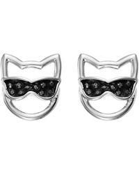 Karl Lagerfeld - Choupette In Sunglasses Stud Earrings - Lyst