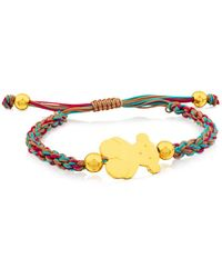 Tous - Bear Charm Knotted Cord Bracelet - Lyst