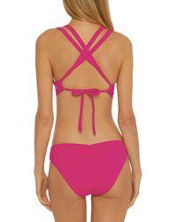 Becca Colour Code Split Strap Bikini Top - Multicolour