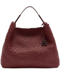 Etienne Aigner Eitenne Aigner Irena Woven Leather Hobo - Red