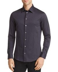 Emporio Armani - Geo Print Regular Fit Button-down Shirt - Lyst