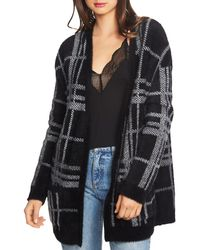 1.STATE - Long Cosy Plaid Cardigan - Lyst