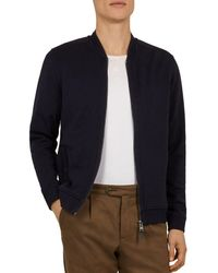 6ffb1b7bd Lyst - Ted Baker Akitaa Quilted Jacquard Bomber Jacket in Blue for Men