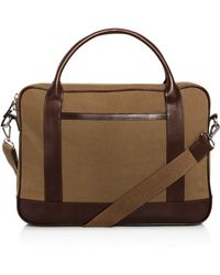 Bloomingdale's Slim Briefcase - Brown