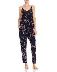 Josie Floral Camisole & Trousers Pyjama Set - Black