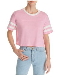 Alternative Apparel - Striped-sleeve Cropped Tee - Lyst