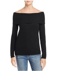 Minnie Rose - Ribbed Off-the-shoulder Cashmere Jumper - Lyst