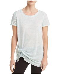 Marc New York - Performance Space-dyed Cinched-hem Tee - Lyst