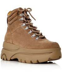 Aqua Women's Haly Platform Hiker Boots - Brown