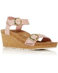 Birkenstock Papillio Soley Buckle Wedge Sandals - Pink
