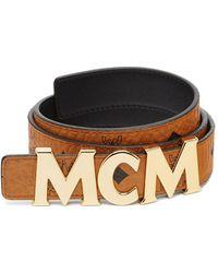 MCM - Letter Belt - Lyst