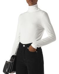 Whistles - Essential Turtleneck Ribbed Top - Lyst