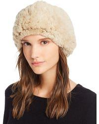 Maximilian Knit Rex Rabbit Fur Headband - Natural
