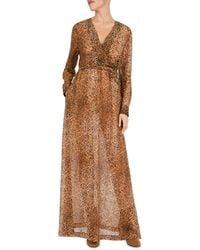 Gerard Darel Dayana Leopard Print Maxi Dress - Brown
