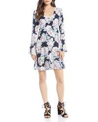 Karen Kane - Taylor Bell Sleeve Floral Print Dress - Lyst