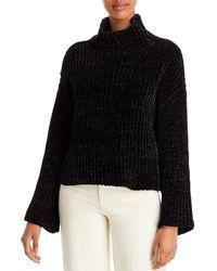 Bella Dahl Chenille Turtleneck Sweater - Black