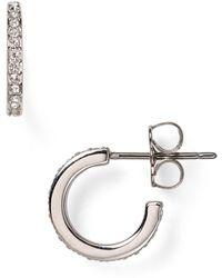 Nadri Pavé Hoop Earrings - Metallic