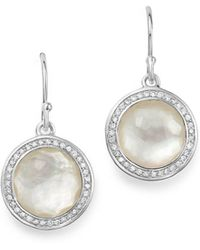Ippolita - Sterling Silver Lollipop Diamond & Mother-of-pearl Doublet Drop Earrings - Lyst