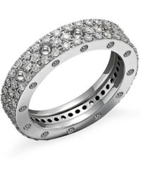 Roberto Coin - 18k White Gold Pois Moi Diamond Pavé Ring - Lyst